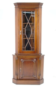 corner cabinet mahogany