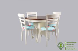 meja-makan-bundar-shabby-chic-model-terbaru-desain-cantik-meja-makan-bentuk-bundar-shabby-chic-harga-murah-dan-berkualitas-untuk-ruang-makan-kecil