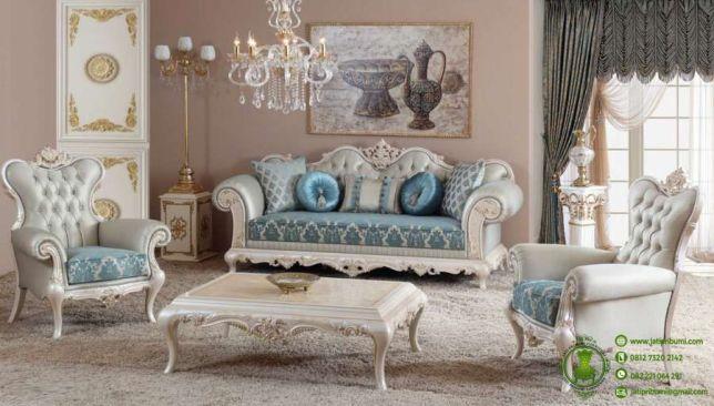 kursi tamu sofa levida desain klasik model terbaru