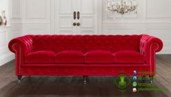 sofa dudukan 4 warna merah