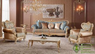 sofa tamu mewah model ukiran