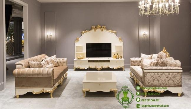 jual set meja tv dan sofa mewah