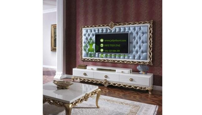 meja tv mewah klasik modern ukiran jepara model terbaru terbuat dari kayu solid berkualitas (1)