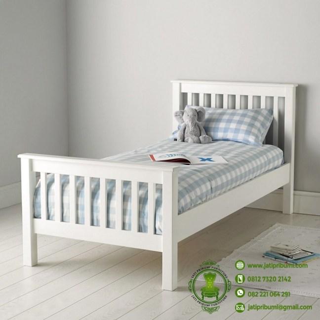 tempat tidur anak murah warna putih